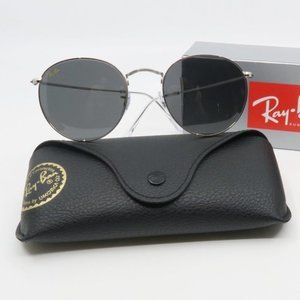 RB 3447 9198/B1 Ray-Ban Silver/Gray Round Sunglass